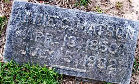 MATSON, ANNIE C - Miller County, Arkansas | ANNIE C MATSON - Arkansas Gravestone Photos