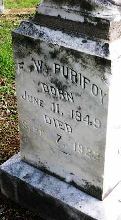 PURIFOY, F.  W. - Miller County, Arkansas | F.  W. PURIFOY - Arkansas Gravestone Photos