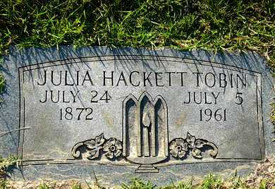 HACKETT TOBIN, JULIA - Miller County, Arkansas | JULIA HACKETT TOBIN - Arkansas Gravestone Photos