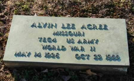 ACREE (VETERAN WWII), ALVIN LEE - Mississippi County, Arkansas | ALVIN LEE ACREE (VETERAN WWII) - Arkansas Gravestone Photos