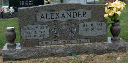 ALEXANDER, II, ISAAC NEWTON - Mississippi County, Arkansas   ISAAC NEWTON ALEXANDER, II - Arkansas Gravestone Photos