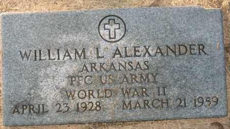 ALEXANDER (VETERAN WWII), WILLIAM L - Mississippi County, Arkansas | WILLIAM L ALEXANDER (VETERAN WWII) - Arkansas Gravestone Photos