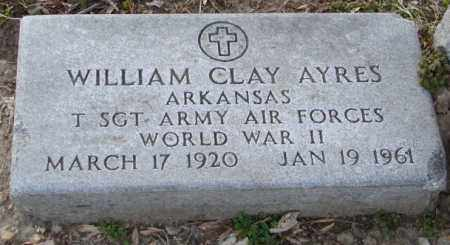 AYRES (VETERAN WWII), WILLIAM CLAY - Mississippi County, Arkansas | WILLIAM CLAY AYRES (VETERAN WWII) - Arkansas Gravestone Photos
