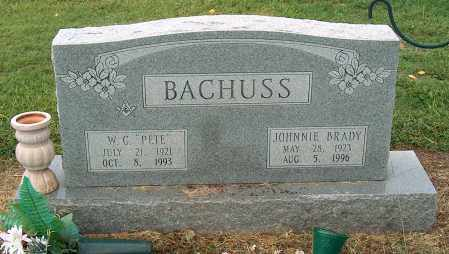 BRADY BACHUSS, JOHNNIE - Mississippi County, Arkansas | JOHNNIE BRADY BACHUSS - Arkansas Gravestone Photos