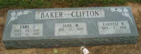 BAKER--CLIFTON, EARL J - Mississippi County, Arkansas | EARL J BAKER--CLIFTON - Arkansas Gravestone Photos