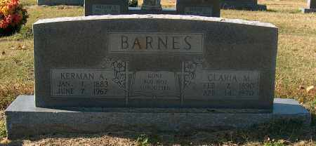 BARNES, KERMAN A - Mississippi County, Arkansas | KERMAN A BARNES - Arkansas Gravestone Photos