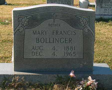BOLLINGER, MARY FRANCIS - Mississippi County, Arkansas | MARY FRANCIS BOLLINGER - Arkansas Gravestone Photos