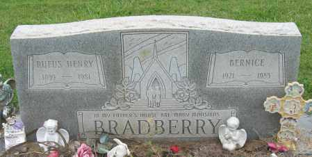 BRADBERRY, RUFUS HENRY - Mississippi County, Arkansas | RUFUS HENRY BRADBERRY - Arkansas Gravestone Photos