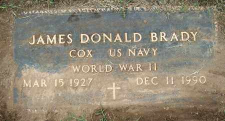 BRADY(VETERAN WWII), JAMES DONALD - Mississippi County, Arkansas | JAMES DONALD BRADY(VETERAN WWII) - Arkansas Gravestone Photos