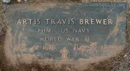 BREWER (VETERAN WWII), ARTIS TRAVIS - Mississippi County, Arkansas | ARTIS TRAVIS BREWER (VETERAN WWII) - Arkansas Gravestone Photos