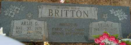 BRITTON, ARLIE D - Mississippi County, Arkansas | ARLIE D BRITTON - Arkansas Gravestone Photos
