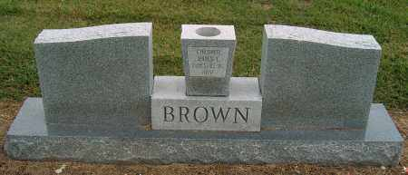 BROWN, JAMES E (BACK OF STONE) - Mississippi County, Arkansas | JAMES E (BACK OF STONE) BROWN - Arkansas Gravestone Photos