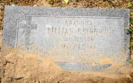 BROWN, LILLIAN B - Mississippi County, Arkansas | LILLIAN B BROWN - Arkansas Gravestone Photos