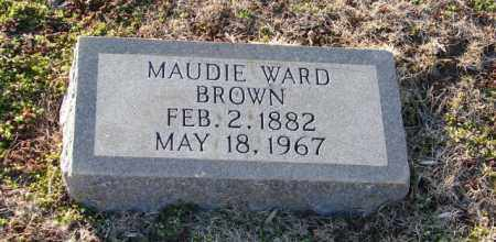 WARD BROWN, MAUDIE - Mississippi County, Arkansas | MAUDIE WARD BROWN - Arkansas Gravestone Photos