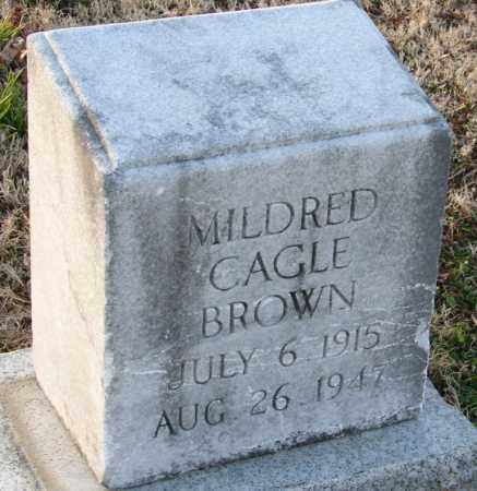 CAGLE BROWN, MILDRED - Mississippi County, Arkansas | MILDRED CAGLE BROWN - Arkansas Gravestone Photos