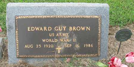 BROWN (VETERAN WWII), EDWARD GUY - Mississippi County, Arkansas | EDWARD GUY BROWN (VETERAN WWII) - Arkansas Gravestone Photos