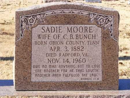 MOORE BUNCH, SADIE - Mississippi County, Arkansas | SADIE MOORE BUNCH - Arkansas Gravestone Photos
