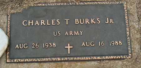 BURKS, JR (VETERAN ), CHARLES T - Mississippi County, Arkansas | CHARLES T BURKS, JR (VETERAN ) - Arkansas Gravestone Photos