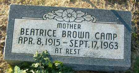 BROWN CAMP, BEATRICE - Mississippi County, Arkansas | BEATRICE BROWN CAMP - Arkansas Gravestone Photos