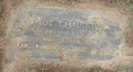 CHAUDOIN (VETERAN WWII), ENOS - Mississippi County, Arkansas | ENOS CHAUDOIN (VETERAN WWII) - Arkansas Gravestone Photos