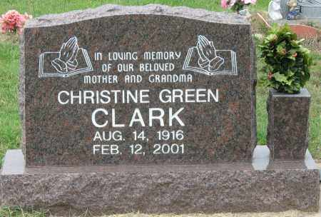 GREEN CLARK, CHRISTINE - Mississippi County, Arkansas | CHRISTINE GREEN CLARK - Arkansas Gravestone Photos