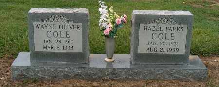 COLE, WAYNE OLIVER - Mississippi County, Arkansas | WAYNE OLIVER COLE - Arkansas Gravestone Photos