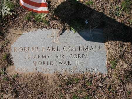 COLEMAN (VETERAN WWII), ROBERT EARL - Mississippi County, Arkansas | ROBERT EARL COLEMAN (VETERAN WWII) - Arkansas Gravestone Photos