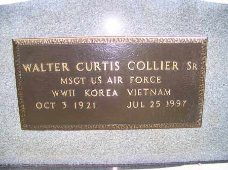 COLLIER, SR (VETERAN 3 WARS), WALTER CURTIS - Mississippi County, Arkansas | WALTER CURTIS COLLIER, SR (VETERAN 3 WARS) - Arkansas Gravestone Photos