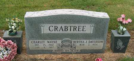 CRABTREE, CHARLEY WAYNE - Mississippi County, Arkansas | CHARLEY WAYNE CRABTREE - Arkansas Gravestone Photos