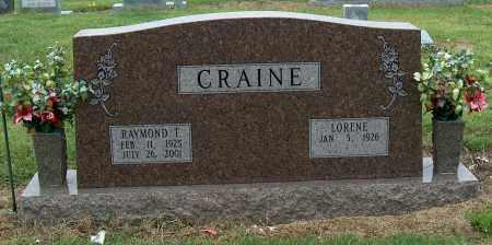CRAINE, RAYMOND T. - Mississippi County, Arkansas | RAYMOND T. CRAINE - Arkansas Gravestone Photos
