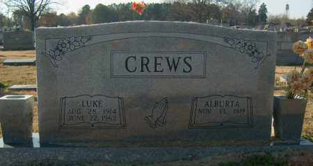 CREWS, LUKE - Mississippi County, Arkansas | LUKE CREWS - Arkansas Gravestone Photos