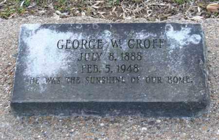 CROFF, GEORGE W. - Mississippi County, Arkansas | GEORGE W. CROFF - Arkansas Gravestone Photos