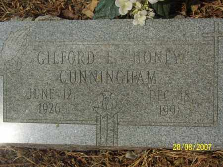 CUNNINGHAM, GILFORD E. 'HONEY' - Mississippi County, Arkansas | GILFORD E. 'HONEY' CUNNINGHAM - Arkansas Gravestone Photos