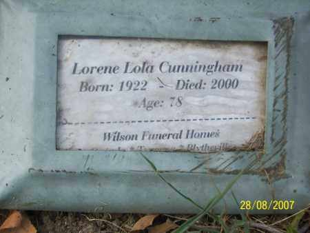 CUNNINGHAM, LORENE LOLA - Mississippi County, Arkansas | LORENE LOLA CUNNINGHAM - Arkansas Gravestone Photos