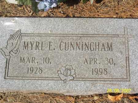 CUNNINGHAM, MYRL E. - Mississippi County, Arkansas | MYRL E. CUNNINGHAM - Arkansas Gravestone Photos