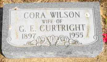 WILSON CURTRIGHT, CORA - Mississippi County, Arkansas | CORA WILSON CURTRIGHT - Arkansas Gravestone Photos