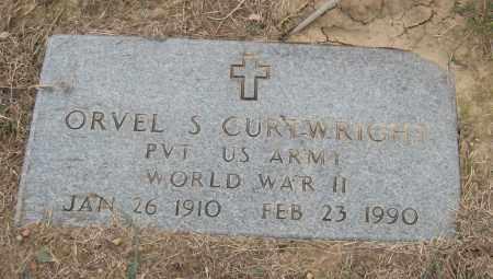 CURTWRIGHT (VETERAN WWII), ORVEL S. - Mississippi County, Arkansas | ORVEL S. CURTWRIGHT (VETERAN WWII) - Arkansas Gravestone Photos