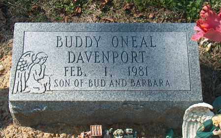 DAVENPORT, BUDDY ONEAL - Mississippi County, Arkansas | BUDDY ONEAL DAVENPORT - Arkansas Gravestone Photos