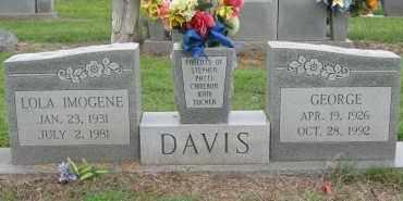 DAVIS, LOLA IMOGENE - Mississippi County, Arkansas | LOLA IMOGENE DAVIS - Arkansas Gravestone Photos