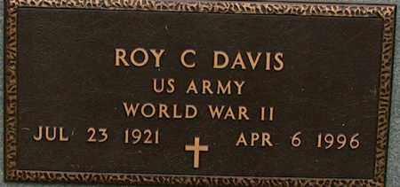 DAVIS (VETERAN WWII), ROY C - Mississippi County, Arkansas | ROY C DAVIS (VETERAN WWII) - Arkansas Gravestone Photos