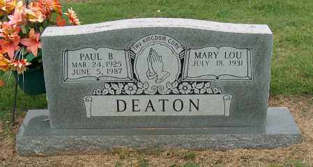 DEATON, PAUL B. - Mississippi County, Arkansas | PAUL B. DEATON - Arkansas Gravestone Photos