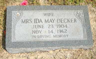 DECKER, IDA MAY - Mississippi County, Arkansas | IDA MAY DECKER - Arkansas Gravestone Photos
