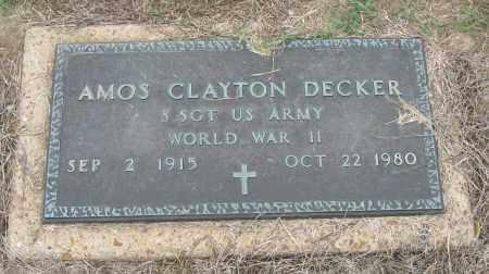 DECKER (VETERAN WWII), AMOS CLAYTON - Mississippi County, Arkansas | AMOS CLAYTON DECKER (VETERAN WWII) - Arkansas Gravestone Photos
