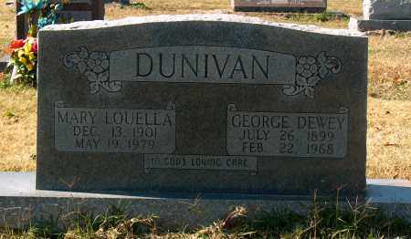 DUNIVAN, GEORGE DEWEY - Mississippi County, Arkansas | GEORGE DEWEY DUNIVAN - Arkansas Gravestone Photos