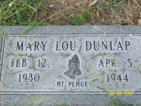 DUNLAP, MARY LOU - Mississippi County, Arkansas | MARY LOU DUNLAP - Arkansas Gravestone Photos