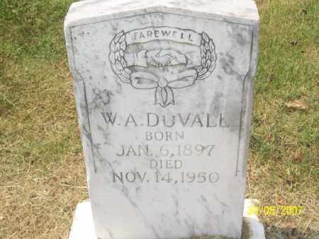 DUVALL, W. A. - Mississippi County, Arkansas | W. A. DUVALL - Arkansas Gravestone Photos