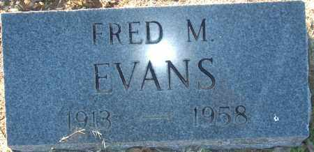 EVANS, FRED M - Mississippi County, Arkansas | FRED M EVANS - Arkansas Gravestone Photos