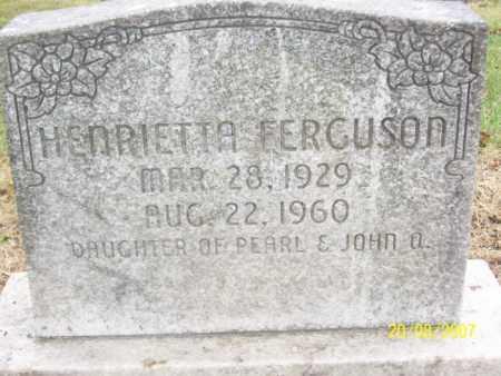 FERGUSON, HENRIETTA - Mississippi County, Arkansas | HENRIETTA FERGUSON - Arkansas Gravestone Photos