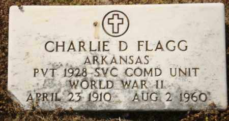 FLAGG (VETERAN WWII), CHARLIE D - Mississippi County, Arkansas | CHARLIE D FLAGG (VETERAN WWII) - Arkansas Gravestone Photos