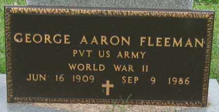FLEEMAN (VETERAN WWII), GEORGE AARON - Mississippi County, Arkansas | GEORGE AARON FLEEMAN (VETERAN WWII) - Arkansas Gravestone Photos